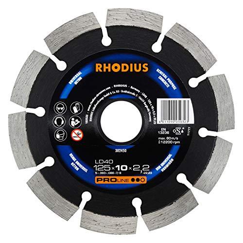Rhodius 302450 Diamant-Trennscheibe LD 40, 125 x 7 x 2.2 x 22.23 mm
