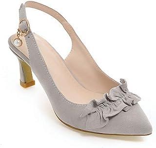 BalaMasa Womens ASL06384 Pu Stiletto Heels