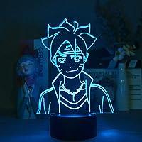 LEDランプ3DBluetoothスピーカーNARUTOうずまきボルトキッドナイトライトクリエイティブホームルームインテリアライトナイトマルチカラーライトギフト-接する