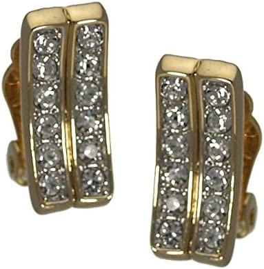 Zira Gold plated Crystal Clip On earrings