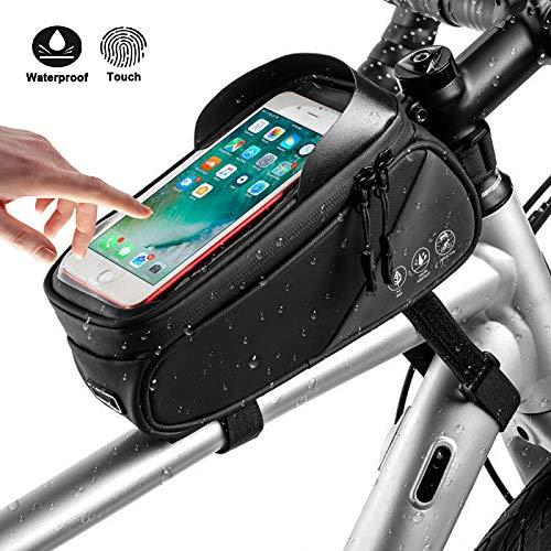 Zealhot Fahrradtasche,Rahmentaschen,Satteltaschen,wasserdichte Fahrradtaschen, Zubehör Telefonhalter für Fahrrad, für iPhone XS max (Handyhalter-Tasche)