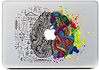 "eDesign Left Right Brain Removable Vinyl Decal Stickers Skin for Apple MacBook Pro Air Mac 13"" / Retina 13.3"" / Unibody 1..."