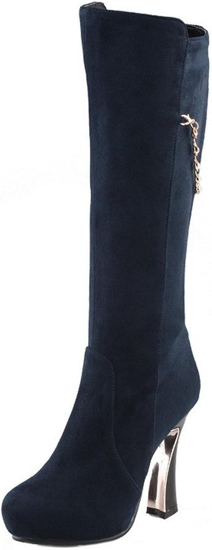 09d4b4e86b391 QueenFashion Women's Platform Studded Rhinestones Metal Chains Heels ...