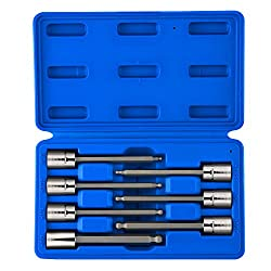 ball end hex socket set with case