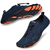 hiitave Men Water Shoes Barefoot Quick Dry for Beach Aqua Swim Pool Diving Surf Sports Walking Sailing Navy 11.5 M US Men