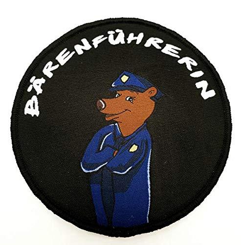 Bärenführerin Textil Patch Polizei