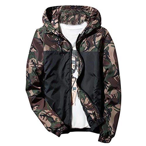 Herren Jacke Kleidung Winter Hoodie Soft Shell Camouflage Wasserdicht Winddicht Outdoor Mantel Jacke Charge Gr. L, armee-grün