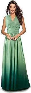 Mujer Vestido de Noche Longitud Máxima Falda Fiesta Cóctel Tirantes Convertibles Multi-Manera