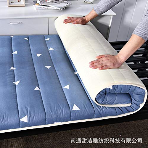 zlzty Foldable Mattress Single, Printed Washed Mattress Student Dormitory Mattress, Foldable Tatami Mattress, Foldable Mattress Travel Cot@E_120*200cm