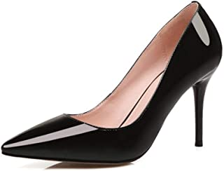 Solid Color Low Top Pointed High Heels For Banquet Wedding Dress Daily (Color : Black, Size : 35)