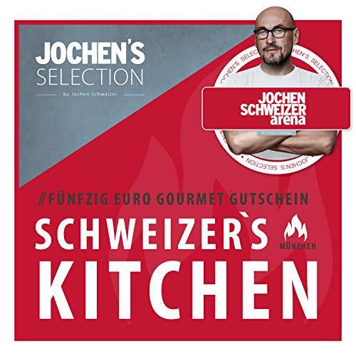 Jochen Schweizer Arena Gastro Wertgutschein 50€ I Restaurant Gutschein I Geschenk für Feinschmecker I Erlebnis-Karte Gourmet Gutschein I Gutschein Essen Gehen