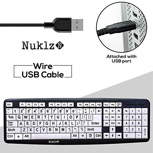 Nuklz N Large Print Computer Keyboard
