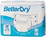 BetterDry Adult Briefs, Poly-Backed with a Thick Core Keeps You Dry All Day and Night, Comfortable and Full Range of Movement (Large, 60 Pads)