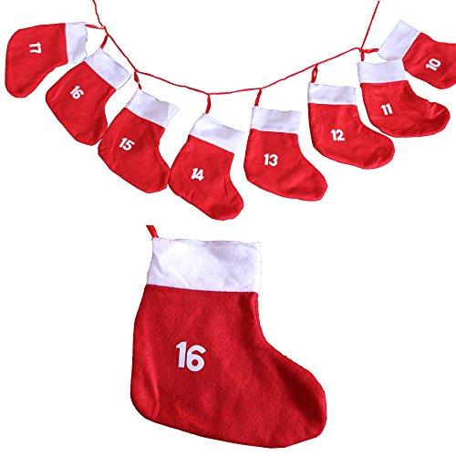 Adventskette mit XXL Socken 18x20cm - Adventskalender zum selber befüllen