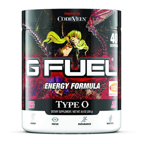 G Fuel Type O Tub (40 Servings) Elite Energy and Endurance Formula 9.8 oz. Inspired by Code Vein (Mia Label)