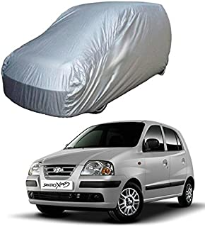 Adroitz Car Cover for Hyundai Santro Xing - Silver (Without Mirror Pocket)