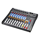 ammoon Console de Mixage Table de Mixage 8 Canaux Ligne de Micro Numérique Mixage...