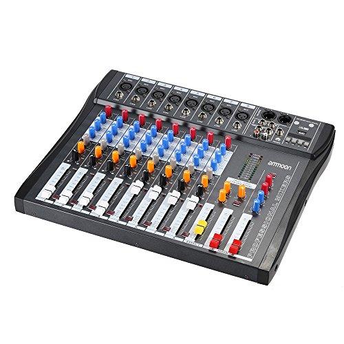 ammoon Mezcla de Audio Mezclador Consola CT80S-USB 8 Canales Línea...