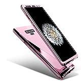 Uposao Compatibile con Samsung Galaxy Note 9 PC Rigida Back Plastica Dura Cover Antiurto Ultra Leggero Cover Case con Niente Bolle Vetro Temperato Screen Protector, Oro Rosa