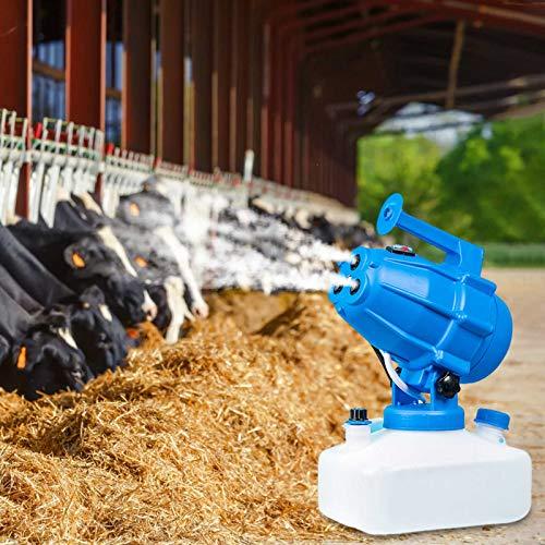 TOPQSC Spruzzatore Elettrico ULV Disinfezione Sterilizzazione Portatile 5L Design a 3 Fori Fogger Nebulizzatore, Intelligente Spruzzatori industriali per irrigazione per Ufficio