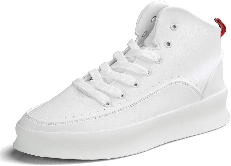 Casual Men's shoes PU White Four Seasons Can Wear Board shoes Leisure