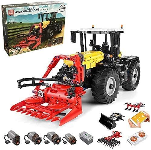 Bybo Technik Traktor, Mould King 17019, 4-IN-1Traktor mit Fernbedienung und Motors, Kompatibel mit Lego Technik, Sammlung von Schwerlastfahrzeugen - 2596 Teile