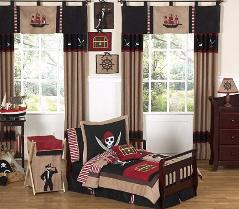 Sweet Jojo Designs 5 Piece Treasure Cove Pirate Toddler Boy Bedding Set