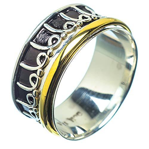 Meditation Spinner, Meditationsspinner 925 Sterling Silber Ring 9.75