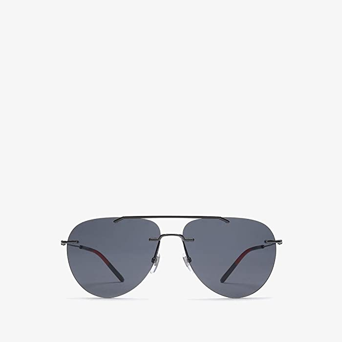 Gucci  GG0397S (Ruthenium) Fashion Sunglasses