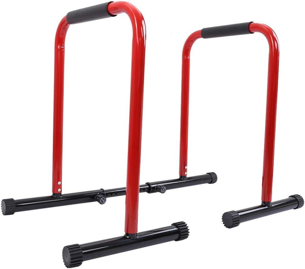 ZAIJMKD Adjustable Dip Bar/Portable Functional Fitness Workout D