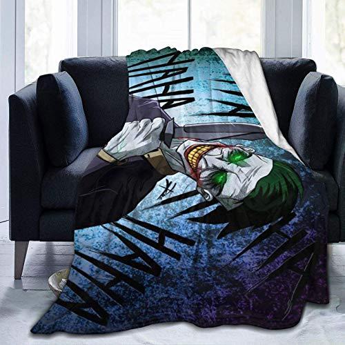 wenhe JOK-Er - Manta de forro polar acogedora hecha de franela de felpa para el hogar, cama, sofá, resistente a las arrugas, manta suave mide 50 pulgadas x 40