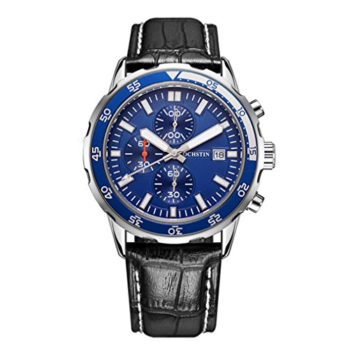 XY-QXZB Il puntatore di movimento multifunzionale dell'uomo guarda l'orologio impermeabile della cinghia di cuoio , 005