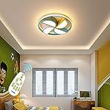 Yilingqi-1 Lámpara de Techo LED Pantalla de acrílico Lámpara de Dormitorio Moderna Lámpara Colgante Sencillez de Techo Regulable Control Remoto Lámpara de Techo para habitación de niños,Ø42cm