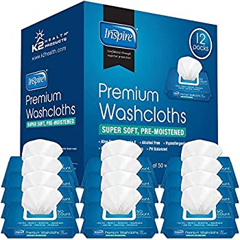 Adult Wet Wipes Adult Wash Cloths Extra Large Adult Wipes for Incontinence & Cleansing 8 x12  600 Count 12 Packs of 50
