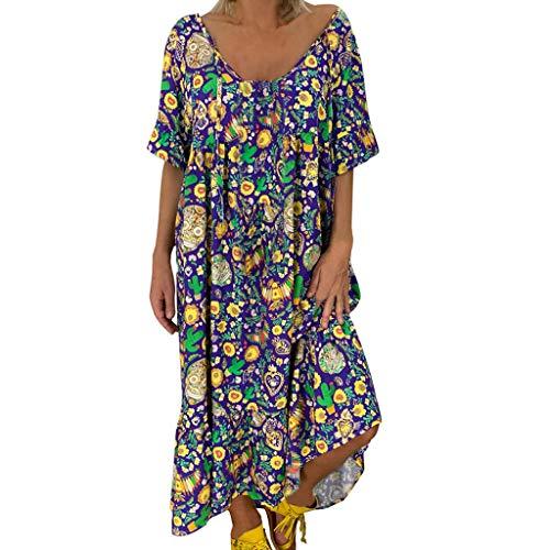 Abito Donna Eleganti Cerimonia Abito Cerimonia Donna Abito Lungo Elegante Donna Abito Elegante Donna Lunga Gonna Dress Donna Maxi Dress Sexy Long Dress (XL,9- Blu)