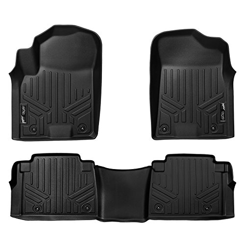 MAXLINER Floor Mats 2 Row Liner Set Black for 2017-2018 Armada / 2011-2013 Infiniti QX56 / 2014-2018 QX80