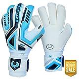 Renegade GK Fury Sub-Z Roll Cut Level 4 Mens & Womens Goalie Gloves with Pro-Tek Fingersaves (Size 11) - Glove...