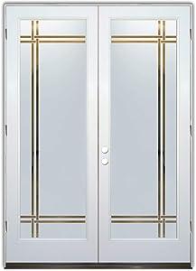 Glass Front Entry Door Sans Soucie Art Glass Bands