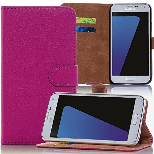 numerva HTC Desire 310 Hülle, Schutzhülle [Bookstyle Handytasche Standfunktion, Kartenfach] PU Leder Tasche für HTC Desire 310 Wallet Hülle [Pink]