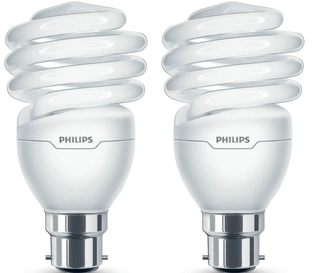 Pack of 2 x Philips Tornado 23W BC Low Energy Compact Fluorescent Light Bulbs