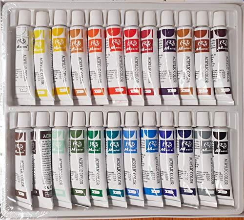 Gouache Farbset 24 Tuben je 12 ml, original Magi Qualität feine Künstlerqualität, wasserlöslich halbdeckend Aquarell