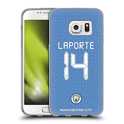 Head Case Designs Licenciado Oficialmente Manchester City Man City FC Aymeric Laporte 2021/22 Players Home Kit Group 1 Carcasa de Gel de Silicona Compatible con Samsung Galaxy S7