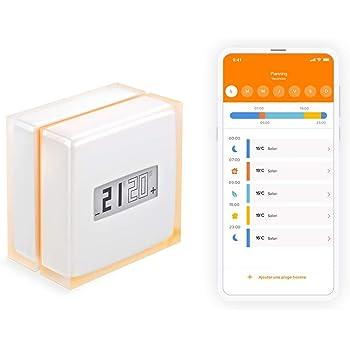 Netatmo Thermostat Connecté et Intelligent pour chaudière individuelle, NTH01-FR-EC