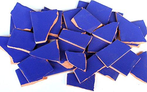 900g Bruchmosaik, Mosaikfliesen aus handgefertigten Fliesen - kobaltblau