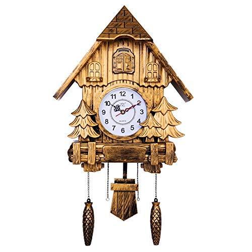 HIGHKAS Reloj de Pared de Cuco Pájaros Europeos Fuera de la Ventana Reloj de Pared Colgante de Tiempo Sala de Estar Reloj Despertador de decoración Creativa Moderna