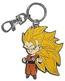 Great Eastern Entertainment GE-48161 Dragon Ball Super: SD SS3 Goku Metal Keychain