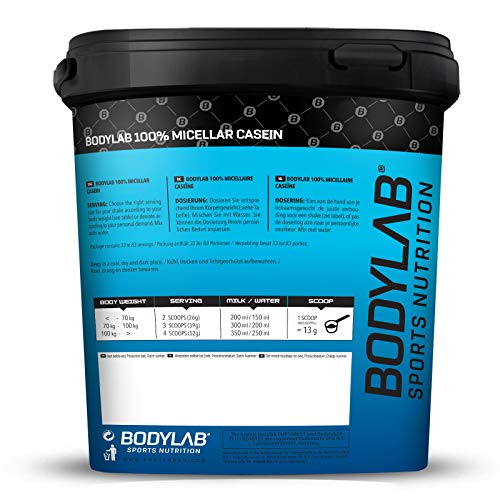 Bodylab24 Casein 100 % Mizellar Vanille, 1er Pack (1 x 2000 g) - 3
