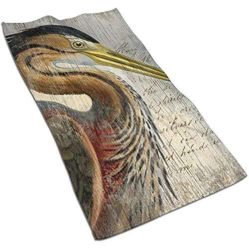 Houten Plank Textuur Toucan Microvezel Handdoeken Polyester Persoonlijkheid Grappig Patroon Super Absorbens voor badkamer, Keuken, Wash Auto, Schoonmaken Handdoek