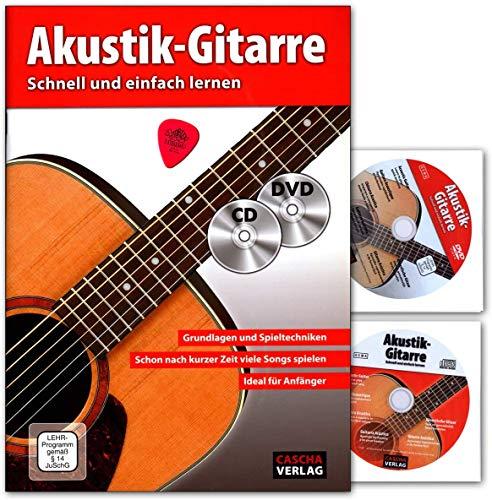 Akustik-Gitarre - Schnell und einfach lernen - mit CD, DVD und Dunlop Plek - Grundlagen und Spieltechniken - Schon nach kurzer Zeit viele Songs spielen - Ideal für Anfänger
