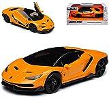 Lamborgihini Centenario Hyper-Spec LP770-4 Coupe Orange Schwarz Ab 2016 1/32 Jada Modell Auto mit individiuellem Wunschkennzeichen -